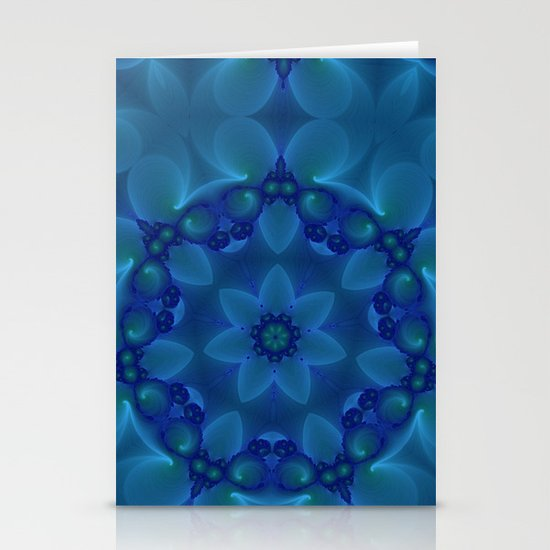 Blue Lotus Stationery Card