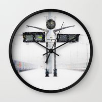 blizzard in Paris Wall Clock