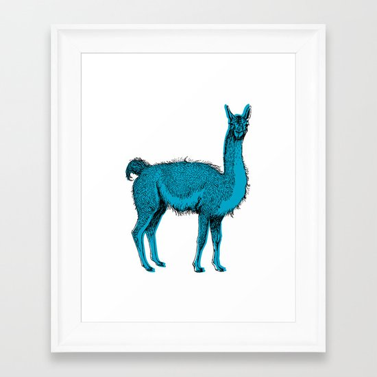 guanaco Framed Art Print