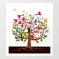 Summer Tree Art Print
