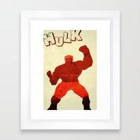 The Avengers Hulk Framed Art Print