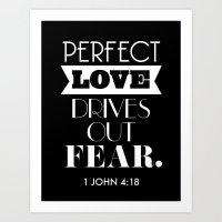 Perfect love Art Print