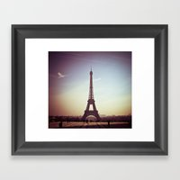 Paris In Pink Framed Art Print
