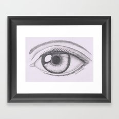 Keep Your Eyes Open And … Framed Art Print