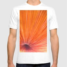Orange and Red White SMALL Mens Fitted Tee