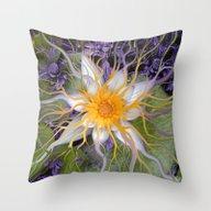 Bali Dream Flower - Purp… Throw Pillow