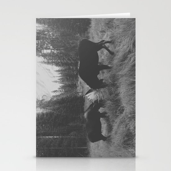 Moose Battle Stationery Card