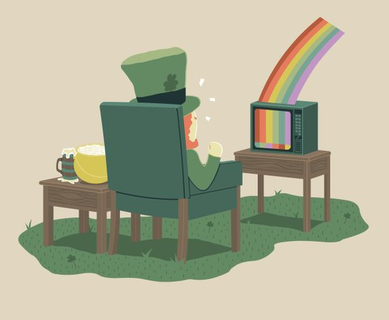 End Of Rainbow - No Signal Art Print