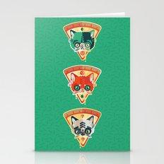 Pizza Slice Cats  Stationery Cards