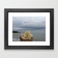 Seaweed on a stick Framed Art Print