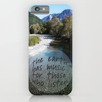 iPhone Cases featuring the earth has music by Sylvia Cook Photography