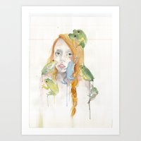 Exodus and the Frog Prince Portrait  Art Print