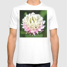 One Clover Flower | Nature Photography SMALL Mens Fitted Tee White