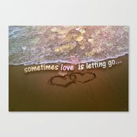 Canvas Print featuring Letting Go  by ipixel- Ana