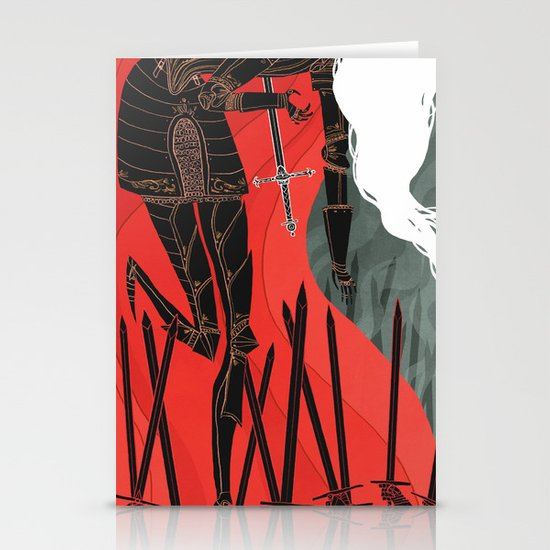 Knight of Swords Stationery Card