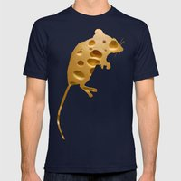 monsieur fromage Mens Fitted Tee Navy SMALL