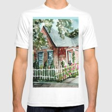 German Village House in Columbus, Ohio Mens Fitted Tee SMALL White