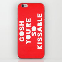 Gosh (Kissable) iPhone & iPod Skin