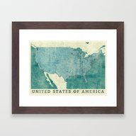 United States Of America… Framed Art Print