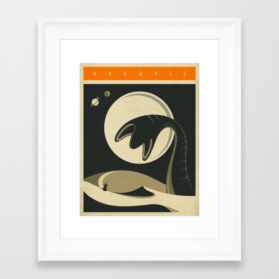 ARRAKIS Framed Art Print