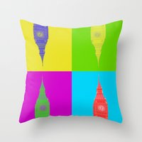 Retro London Pillow Throw Pillow