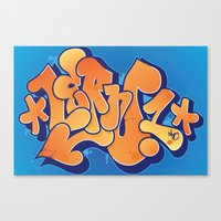 Lern 1 Bubblegum Graffit… Canvas Print