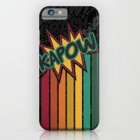 iPhone & iPod Case featuring Kapow [Rainbow] by Veronica Galbraith
