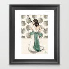 A Shotgun Kind of Wedding Framed Art Print