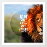 BOLD AS LIONS Art Print