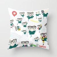 bebotestbag Throw Pillow