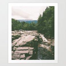 rocky gorge Art Print