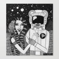 Girl With Ancient Astron… Canvas Print