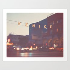 Venice beach California Art Print