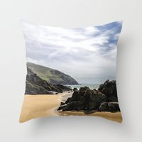 Peaceful Sand And Ocean Throw Pillow