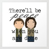 Supernatural Peace Art Print