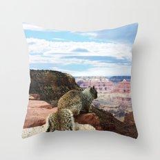 Squirrel Overlooking Gr… Throw Pillow