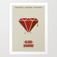 Blood Diamond - Minimal … Art Print