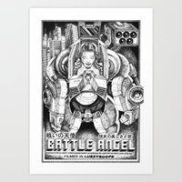 Battle Angel Art Print