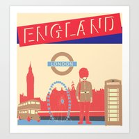 london Art Prints featuring LONDON by famenxt