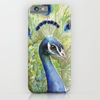 iPhone & iPod Case featuring Peacock by Olechka