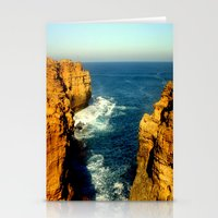 As the sunsets over the Limestone Cliffs Stationery Cards