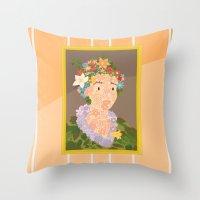 Flora by  Giuseppe Arcimboldo Throw Pillow