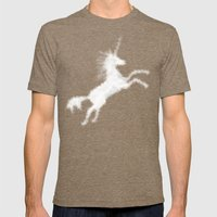 Cloudy Unicorn Mens Fitted Tee Tri-Coffee SMALL