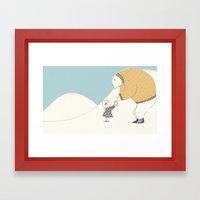 A gift for Mr Bear Framed Art Print