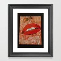 Chuck CLose Lips Framed Art Print