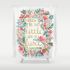 Little & Fierce Shower Curtain