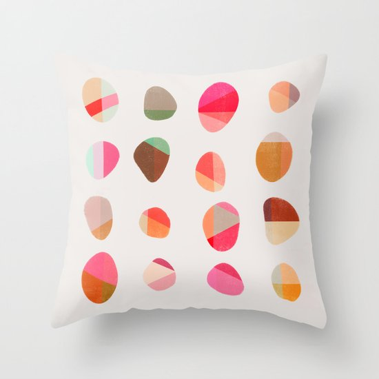 Painted Pebbles 5 Throw Pillow