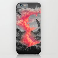 iPhone Cases featuring Burn Brighter In the Dark (Volcanic Clouds II) by soaring anchor designs