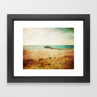 Beach in southern France - summer memories Framed Art Print