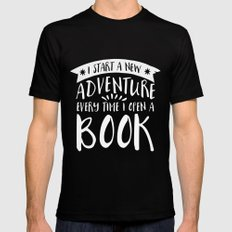 I Start a New Adventure Every Time I Open a Book! - Inverted Mens Fitted Tee Black SMALL